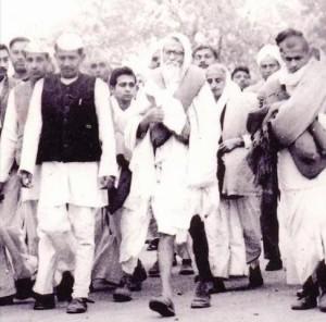 Padyatra with Vinoba during Bhoodan movement